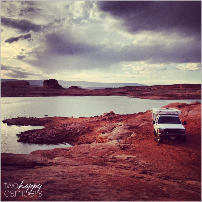 Lake Powell car camping