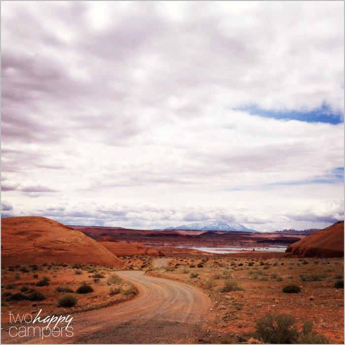 Road to Stanton Creek Campground Utah