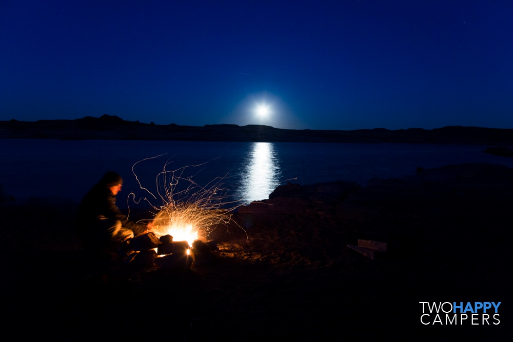 lake powell shoreline camping