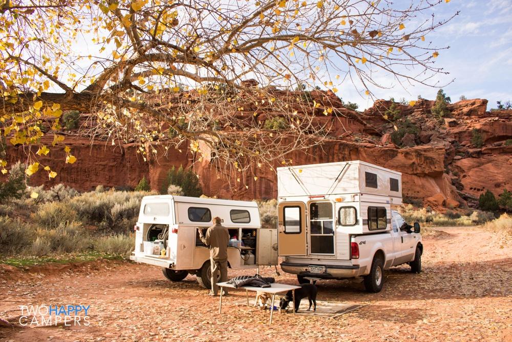 four wheel camper truck camping