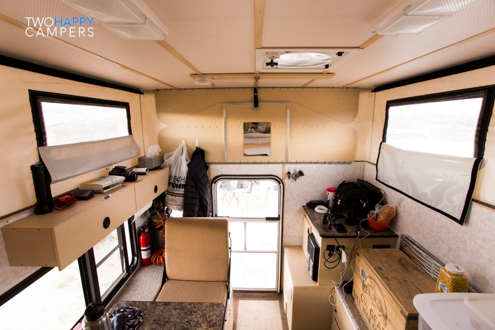 A look inside our Four Wheel Camper