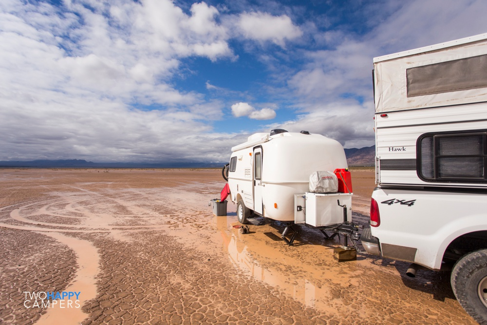 Trying to not get stuck: 3 nights on a not-so-dry lakebed